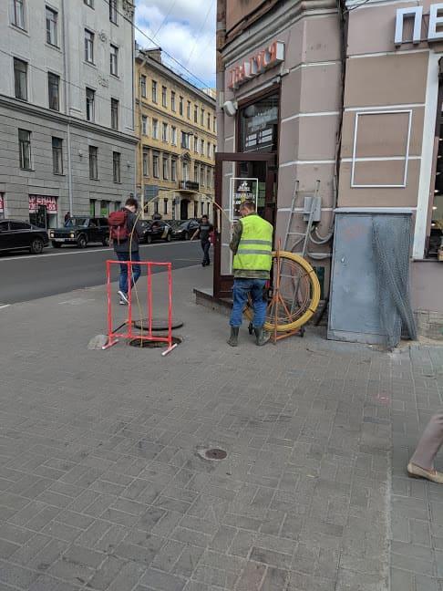 прокладка оптики в канализации СПб