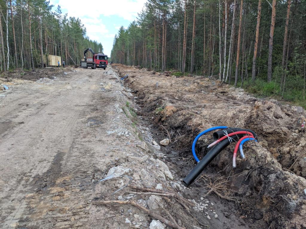 прокладка кабельной канализации в новом коттеджном посёлке